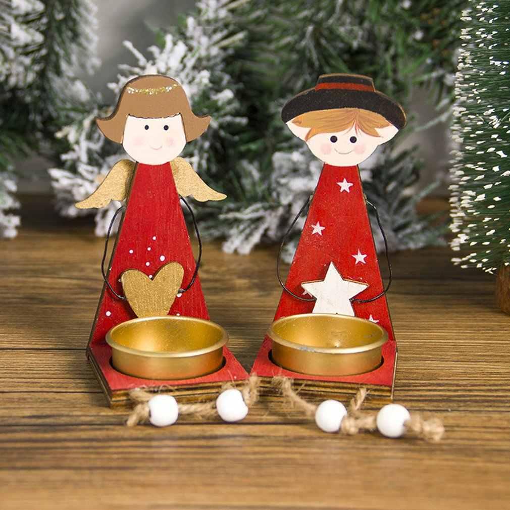 Hiasan Natal Dicat Love Angel Gadis Memakai Natal Meja Kayu Pohon Natal Dekorasi Sd285