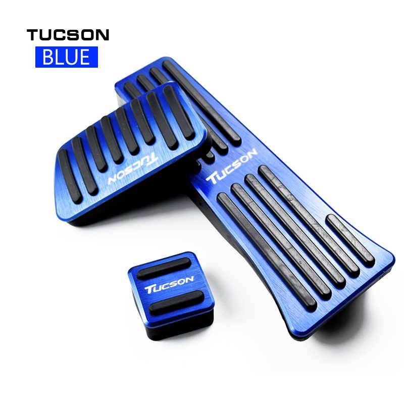 Pedal de freno de acelerador de coche de aluminio Pedal de embrague para Hyundai Tucson 2015 2016 2017 2018 cubiertas antideslizantes de placa de Pedal