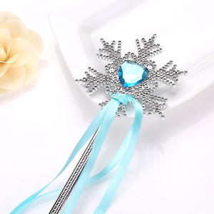 Frozen 2 Children's Toys Snowflake Magic Wand Birthday Toy Streamer Elsa Princess Cartoon Photo Prop Cosplay Girl Toys For Kids