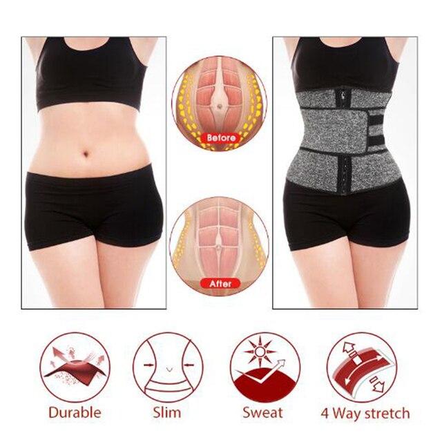 Waist Trainer Cincher Trimmer Sweat Belt Men Women Shapewear with Double Strap 5