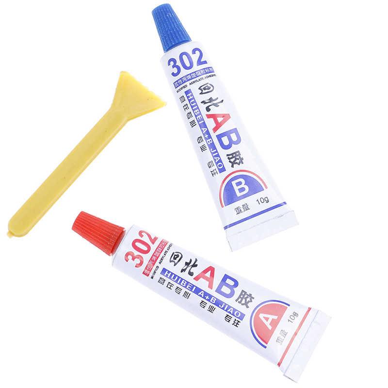 2 uds pegamento transparente epoxi súper fuerte resina adhesiva pegamento inmediato (A + B) Artesanía