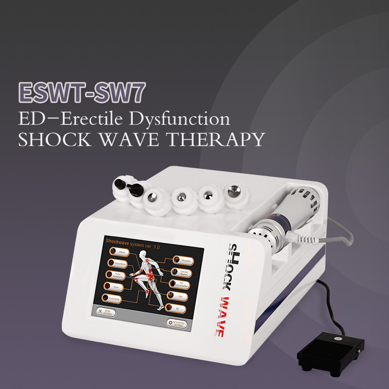 2020 New Shockwave Therapy Machine ED Treatments Pain Relief Therapy Device 5 Bar Shockwave Therapy Machine