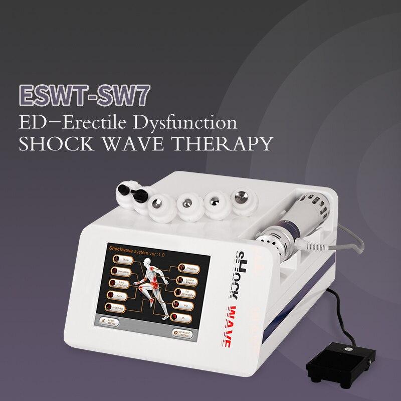 2020 neue Schockwelle Therapie Maschine ED Behandlungen Schmerzen Relief Therapie Gerät 5 Bar Schockwelle Therapie Maschine