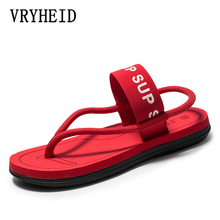 VRYHEID Brand Sandals Men Sandalias Hombre Gladiator Sandals for Male Summer Roman Beach Shoes Flip Flops Slip on Flats Slippers