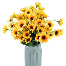 Daisy Sunflower  Artificial Flower 30cm 24 heads Silk Fake Bouquet Decoration for Home Wedding Party Table Window Deco