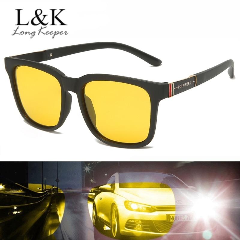 2020 New Polarized Sunglasses Men Women Brand TR90 Frame Night Vision Sun Glasses Yellow Lens Anti-glare Driving Goggles UV400
