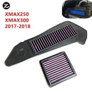 2 шт., воздушный фильтр для мотоцикла YAMAHA XMAX250 XMAX300 xmax 250 300, защита двигателя