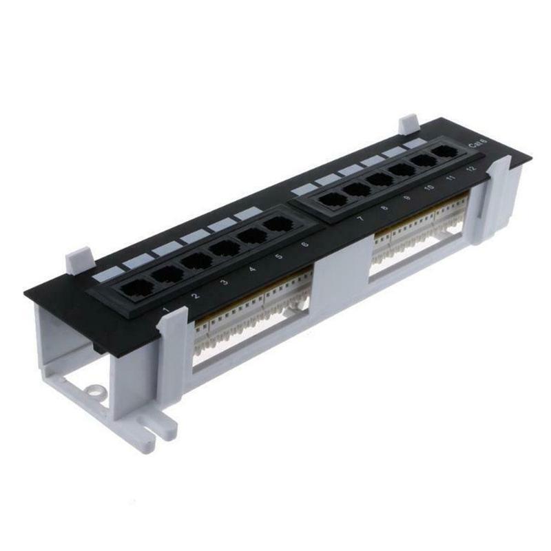 12-port unshielded modelo sobre-testado com suporte rj45