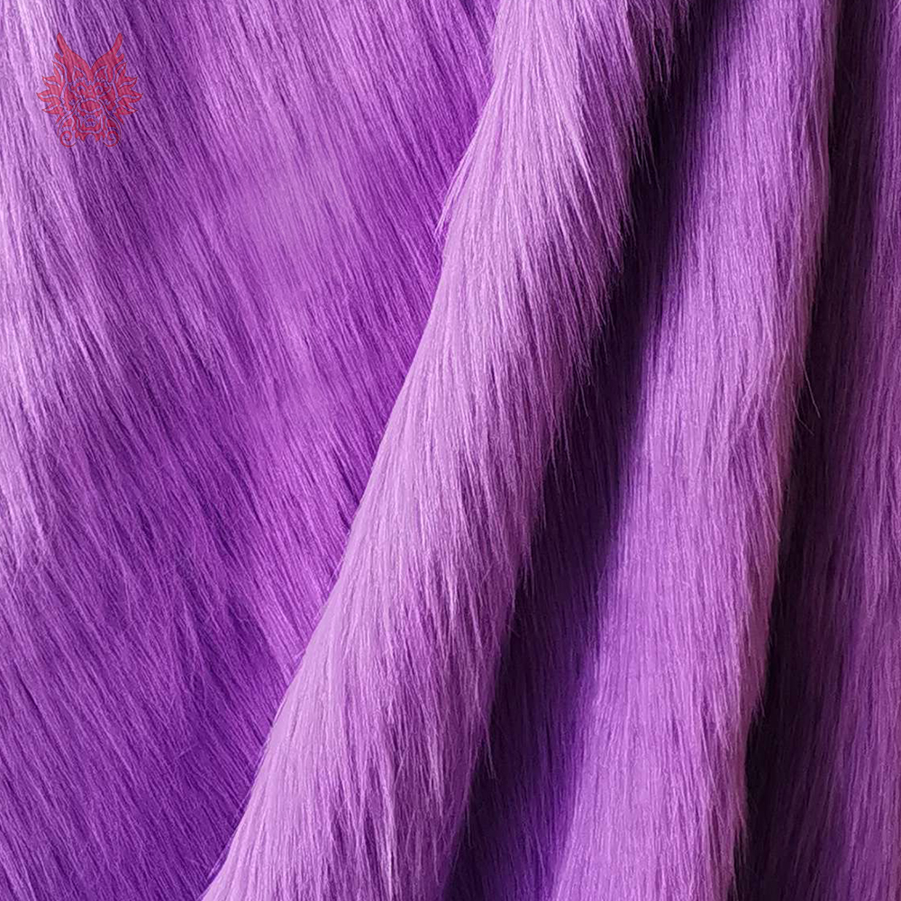 Luxury Purple 9cm Plush Faux Fur Fabric For Winter Coat Vest Stage Cosplay Decor Long Fur Fabric Tissue DIY 150*50cm 1pc SP5419