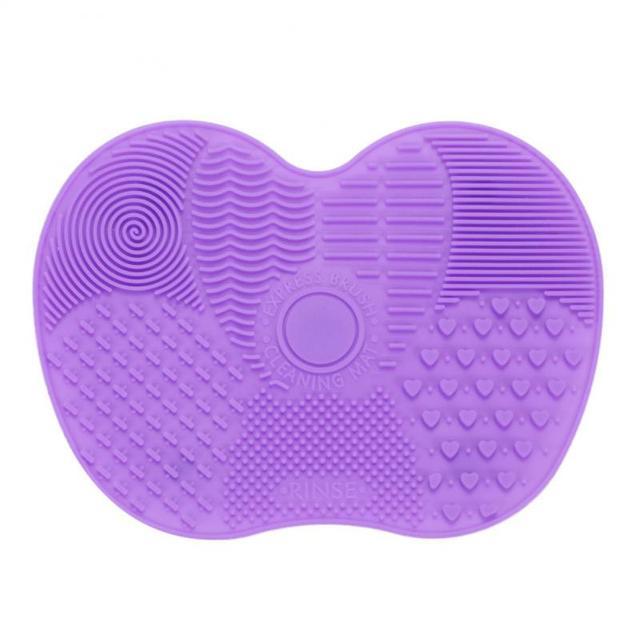 Gorąca sprzedaż przydatne silikonowy pędzel do makijażu Cleaner Pad Mat Brush narzędzia do mycia dla fundacja Eyeshadow szminki szczotki do czyszczenia