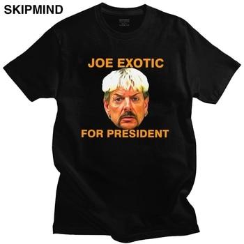 Handsome Joe Exotic For President T Shirt Mens Short Sleeve Round Neck Cotton T-shirt Summer Tiger King Tees Oversized Apparel 1