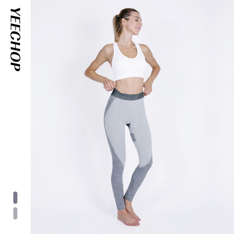 Yeechop Women Workout Seamless Leggings Push Up Fitness Leggings Female Fashion Patchwork Mujer S -XL Leggings Yoga Sport Pants Multan