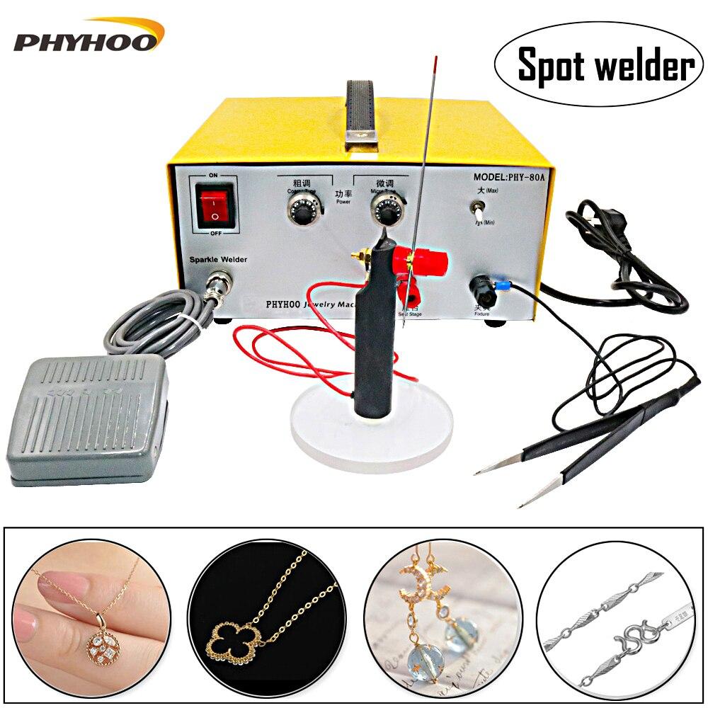 80A laser spot welding hand   held pulse spot welder welding machine welding machine gold and silver jewelry processing|spot welder welding machine|spot welding|pulse spot welder - title=