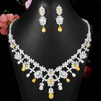 GODKI 2020 Luxury Shiny Crystal Pendant Necklace Pendant Earrings for Women Wedding Bridal Crystal Dubai PARTY WEDDING Jewelry