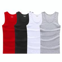 3 sztuk partia letnie męskie bawełniana bielizna męska podkoszulek przezroczyste koszule męskie Bodyshaper Fitness Wrestling podkoszulki tanie tanio ALANSHOW 阿郎说 Men`s Cotton undershirt no1