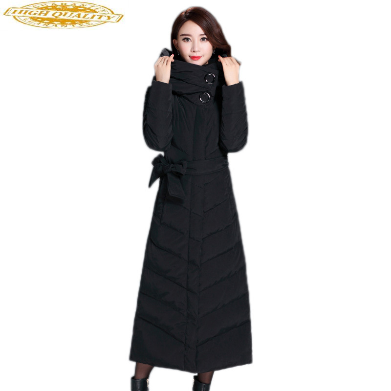 Winter Long Duck Down Jacket Woman Hooded Parkas Mujer 2020 Warm Black Coat Women Jackets Chaquetas Invierno Mujer KJ375