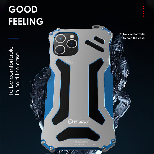 Aluminum Metal Case for iPhone 11 Pro Max Luxury Gundam Shockproof Cover Case for iPhone 8 7 Plus 6s 5s Se X Xs Max Xr Case