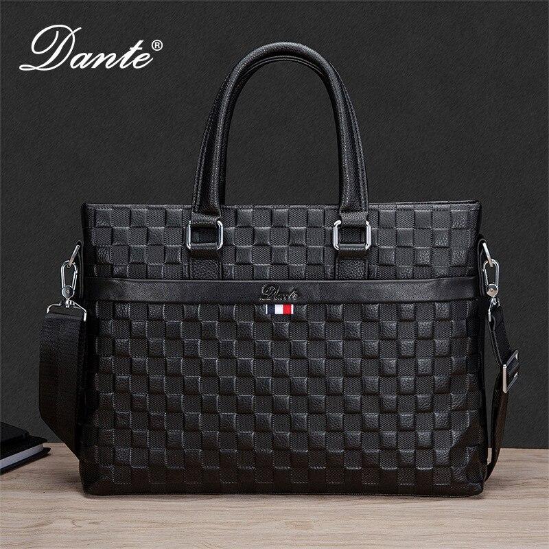 men's handbag genuine leather large capacity computer bag business cowhide shoulder messenger leisure briefcase office bags men