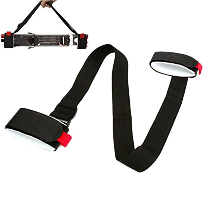 Adjustable Ski Handle Strap Bags Nylon Skiing Pole Shoulder Hand Carrier Lash Handle Straps Porter Hook Loop Protecting