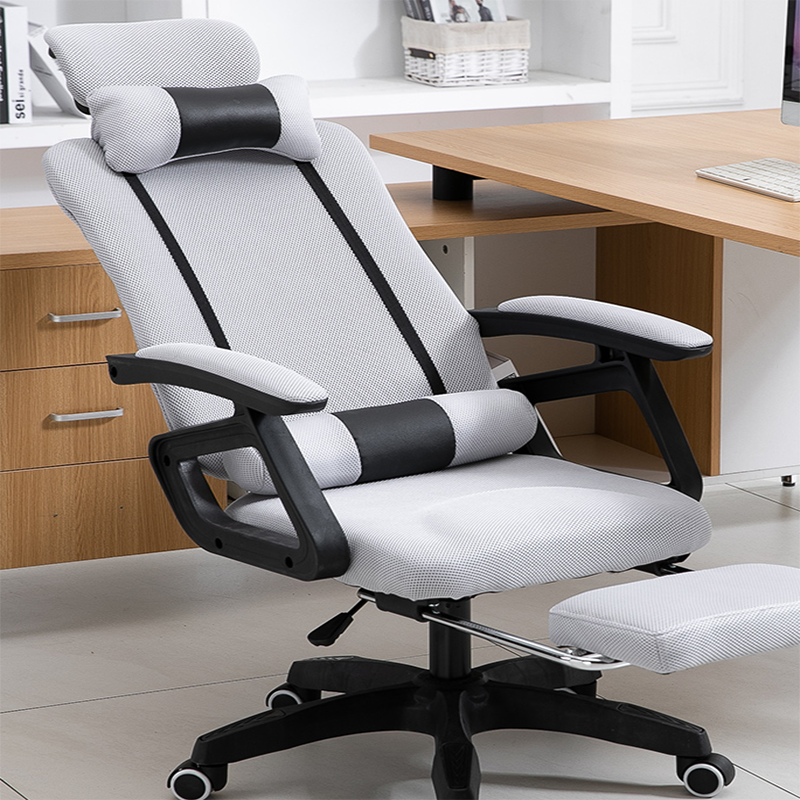Home high quality computer chair engineering swivel chair pull mesh cloth swivel chair office chair game player and use waist pr