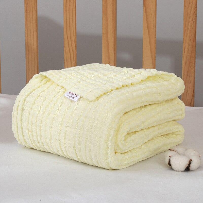 Muslin Swaddle 6 Layer Muslin Blanket Baby Stroller Blanket Swaddle Wraps Baby Blanket Size 110*110cm