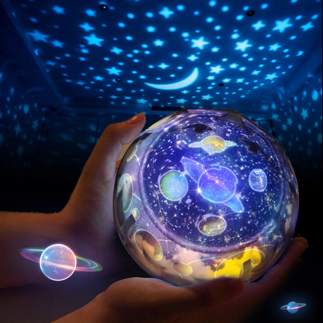 Creative Starry Sky Night Light Planet Magic Projector Earth Universe LED Light Colorful Flashing  Baby Christmas Gift