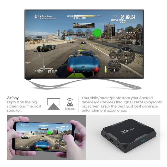 Smart TV Box Android 9.0 X96 Max 4GB 64GB 32GB Amlogic S905X3 Quad Core 5.8GHz Dual Wifi 1000M 4K 60fps Set Media Player x96max 4