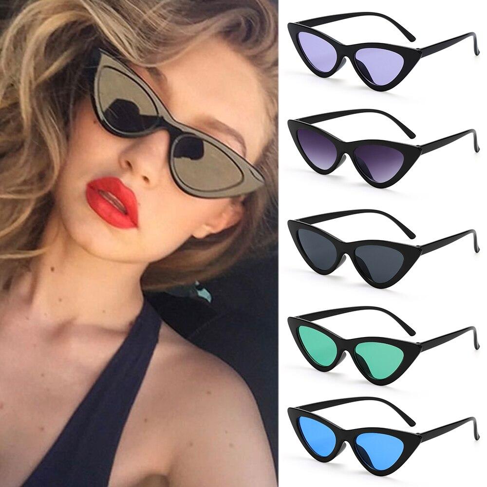 Occhiali da sole Sexy Cat Eye donna Designer di marca specchio triangolo nero occhiali da sole sfumature di lenti femminili occhiali Streetwear UV400 2