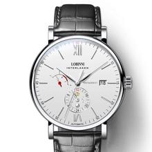 Switzerland LOBINNI Luxuy Brand Watch Men Automatic Mechanical Mens Watches Leather Clock Sapphire Waterproof relogio masculin