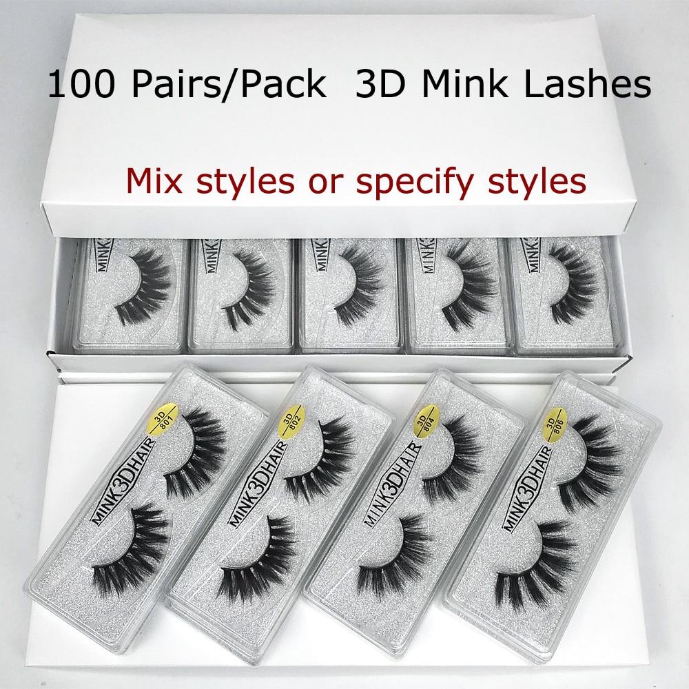 Wholesale Mink Eyelashes 30/50/70/100 Pairs 3D Mink Lashes Bulk Eyelash Extension Natural False Eyelashes Makeup Long Eye Lashes