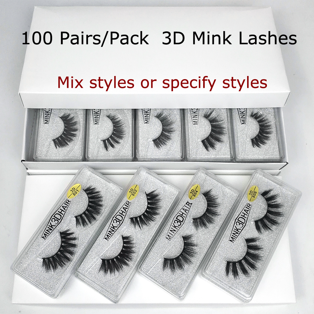 Wholesale Mink Eyelashes 30/50/70/100 Pairs 3d Mink Lashes Eyelash Extension Natural False Eyelashes Makeup Long Eye Lashes Bulk