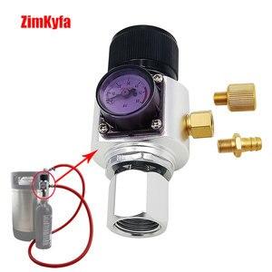 Image 4 - Мини CO2 газовый регулятор с адаптером для пейнтбольного бака, конвертер для домашнего пивоваренного керна 0 ~ 60PSI