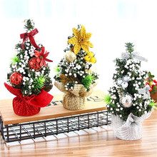 Mini Christmas Trees Xmas Decorations A Small Pine Tree Placed In The Desktop Christmas Festival Home Cute Ornaments 20cm#S