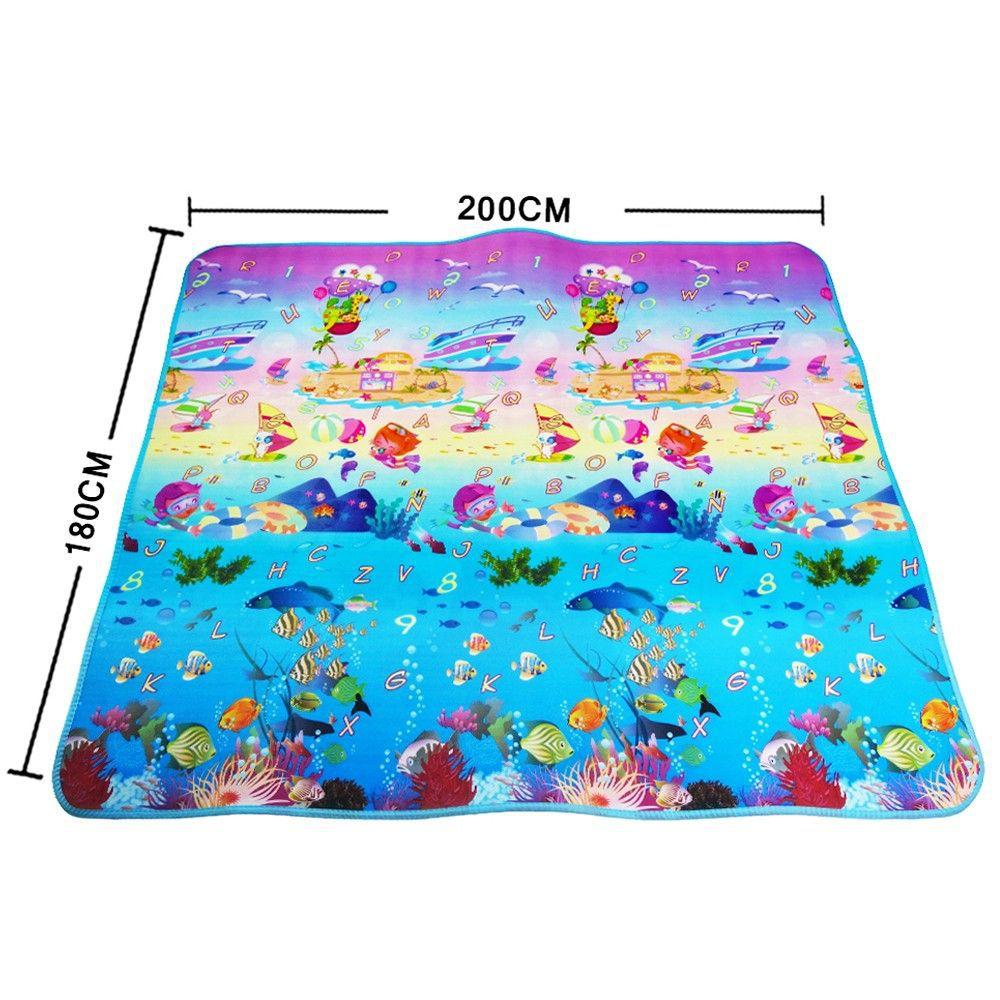 Cute Baby Play Mat 180*120*0.5cm Crawling Mat Double Surface Baby Carpet Creative Cartoon Design Developing Mat For Children
