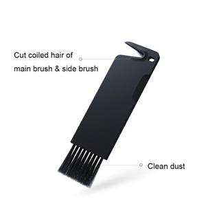 Image 5 - Cepillos laterales de 6 brazos de repuesto, negro, cepillo principal desmontable con herramienta para Xiaomi/Roborock s50 S51 S55 S5 S6, Robot aspirador