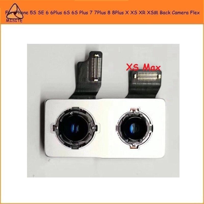 10Pcs/Lot Original For IPhone 5S SE 6 6Plus 6S 6S Plus 7 7Plus 7P 8 8Plus 8P X XS MAX XR XS XSM Back Big Rear Main Camera Flex