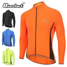 Queshark для мужчин велосипедные майки велосипедная куртка спортивная дышащая цикл горные MTB светоотражающие с длинным рукавом Одежда велосипед рубашки