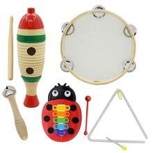Качество 5 Набор Orff Музыкальные инструменты набор детей Раннее детство музыка ударная игрушка комбинация детский сад обучающие средства