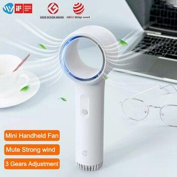 Weiyuan Mini Fan Handheld Bladeless Fan Ventilator Strong Wind Baseus Portable Handheld Leafless Fan USB Fan Climatiseur Fan