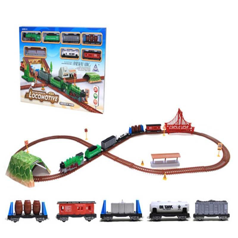 Electric Model Retro Rail Car Train Model Children'S Educational Rail Car Toy Boy Christmas Gift