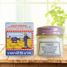 Tailândia 100% original branco macaco holoing pêssego bálsamo alívio da dor muscular aliviar a coceira 12g/2g dor remendo creme erval