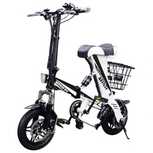 Smart Folding Electric Bike adult Mini Electric Bicycle 12inch 36V 8AH 250W Motor With Double Disc Brakes 25km/h sctooer