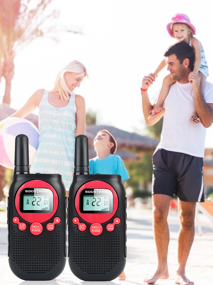 Walkie Long-Range Two-Way-Radio Rechargeable 2pcs for Adults 5-miles/22ch/Vox/.. Road-Trip
