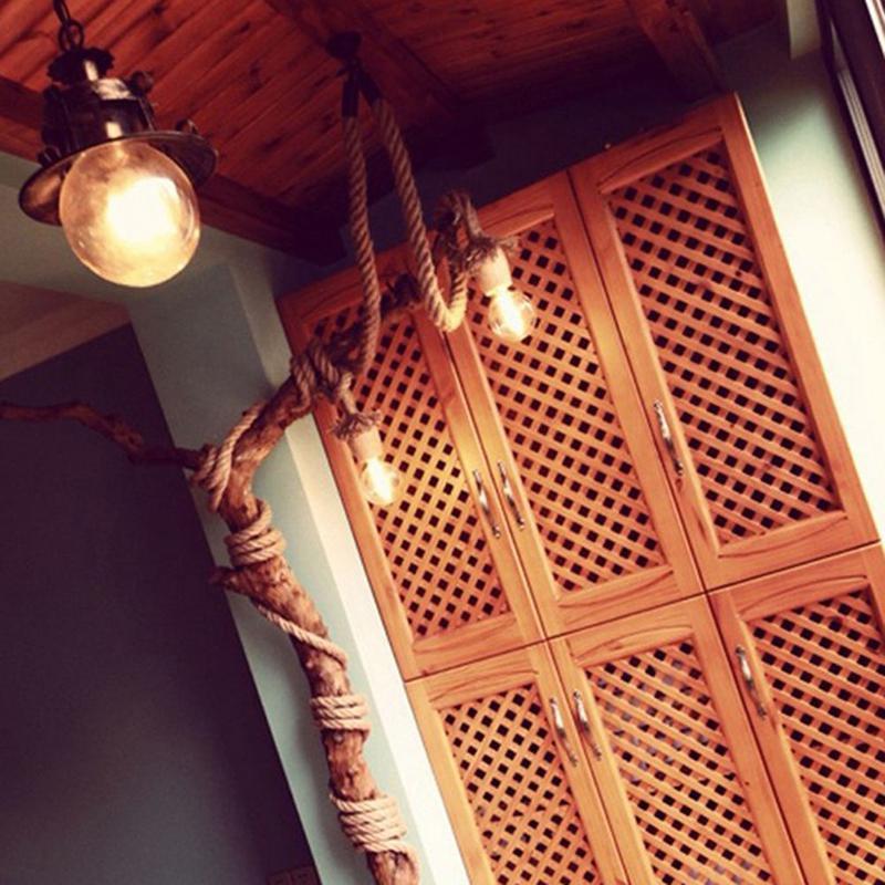 H6e5fafa5b798483685c2e41b37e280632 1M Vintage Rustic Hemp Rope Ceiling Chandelier Wiring E27 220V Pendant Lamp Hanging Lights for Living Room Bar Decor