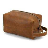 MAHEU Neue Design Reise Hand Tasche Aus Echtem Leder Lagerung Tasche für Make-Up Leder Kupplung Taschen Männer Frauen Große Hand geldbörse