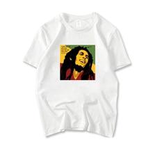 Bob Marley T Shirt Girls Summer Fashion Printing Tee Shirts Short Sleeve Tops O Neck White Short-Sleeve Tshirt Unisex Basic Tees