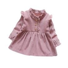 2019 Baby Girls Dress Children Clothes Dress Lovely Long-Sleeve autumn Kids Princess Dress Cute Toddler Girls Clothing