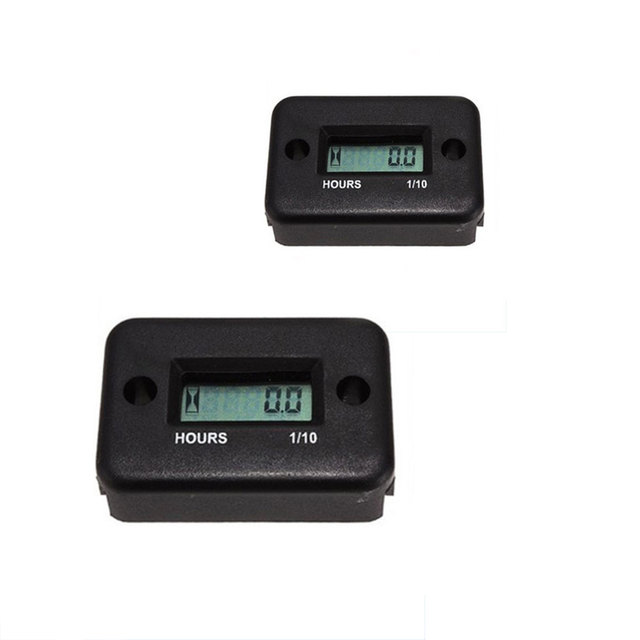 Digital Accurate LCD Hour Meter Counter Boat Snowmobile Inductive ATV Motorcycle Waterproof Portable