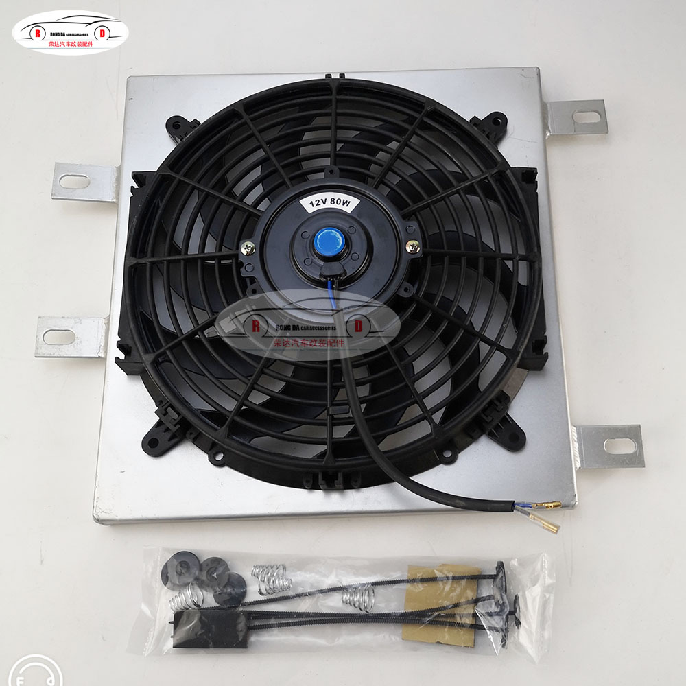 """UNIVERSAL 12/"""" inch Universal Electric Radiator Fan New with mounting kit black"""