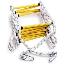 6.5ft Flexible Ladder Rope Ladder Insulated Ladder Rescue Ladder Rock Climbing Anti-Skid Engineering Rope Ladder